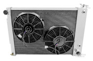 1967 1968 1969 Chevy Camaro 4 Row Radiator BB + Fans