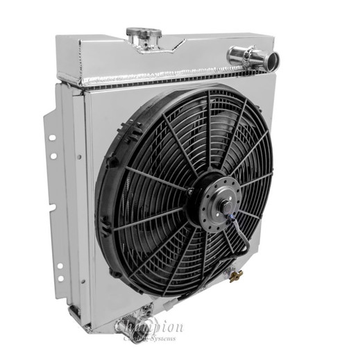 Aluminum fan shroud fan for 1965 1966 ford mustang radiator not image 1 sciox Choice Image