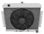 1982 1983 1984 JEEP CJ RADIATOR (W/CHEVY CONFIG) + FAN