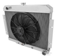 1970 1971 1972 JEEP CJ RADIATOR (W/CHEVY CONFIG) + FAN
