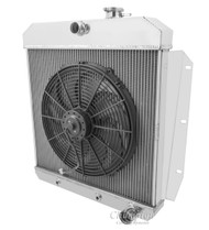 "1955 1956 1957 1958 1959 GMC Truck Radiator + 16"" Fan"