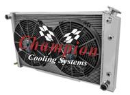 1968 1969 1970 1971 1972 1973 Pontiac GTO All  Aluminum Champion 3 Row Radiator