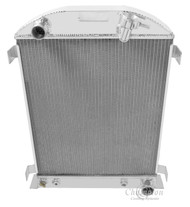 1932 Ford Hi Boy 3 Row Aluminum Radiator Chevy/Mopar Eng