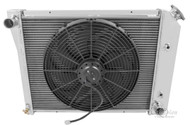 "1980 81 82 83 84 85 86 Caprice 3 Row Champion Radiator 571 + 16"" Fan 672"