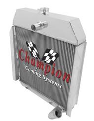 1945 International Truck Performance 3 Row Core Aluminum Radiator