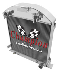 1928 - 1929 Ford Model A w/ Chevy Configuration 3 Row Aluminum Radiator for Chevy ENG 2829CH