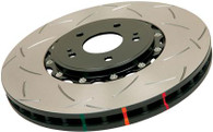 DBA GTO Front Slotted 5000 Series 2 Piece Rotor Assembled w/ Black Hat 2005-06