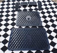 MASERATI DRIVER AND PASSENGER SIDE FLOOR MATS & FULL SET OF RUBBER PEDALS 3500 MISTRAL GHIBLI