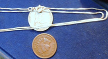 """Solid Sterling Silver Box Chain 18"""" from Italy .85 MM New Jewelry ships free"""