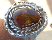 New Mens Sterling Silver Jewelry 7.90 cts Fire Agate Gemstone Ring size 12