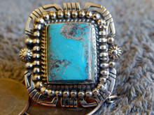 Bisbee Turquoise Sterling Silver Ring Navajo Robert Shakey Size 10 1/4