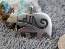 New Sterling Silver Overlay Pendant By Hopi Artist  Adrian Sanchez