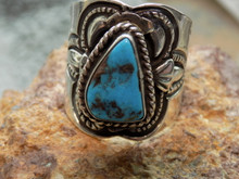 New Mens Bisbee Turquoise Sterling Silver Ring Navajo Lorenzo James Size 12 1/4
