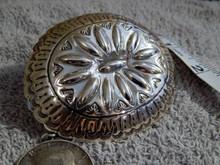 New Sterling Silver Belt Buckle By Navajo Artist Carson BlackGoat