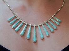 New Sterling Silver Turquoise Ladies Necklace Earring Set Navajo Evangel David