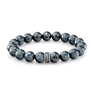 Faceted Hematite Bead Bracelet