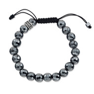 Faceted Hematite Shamballa Bead Bracelet