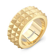 Gold Plated Spike Ring