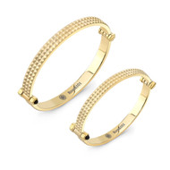 Gold Plated Spike Bangle