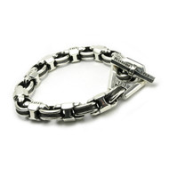 Caterpillar Bracelet with Channel Links