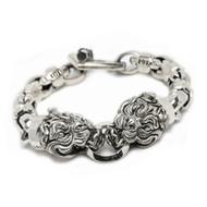 "Sterling Silver ""Bully"" Bulldog Bracelet"
