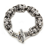 Sterling Silver Men's Snarls Link Bracelet