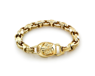 Custom 18K Gold Daruma Bracelet
