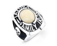 Custom Sterling Silver Superbowl of Death Ring