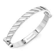 Track Striped Blade Bangle