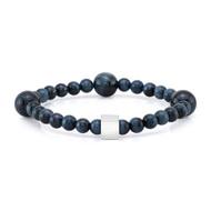 6mm and 10mm Blue Tiger Eye Bead Bracelet