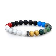 8mm Mixed Colors Bead Bracelet