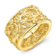 18K Gold Filigree Ring
