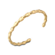 18K Gold Chain Cuff Bangle Bracelet
