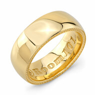 Plain 9mm Gold Plated Wedding Band
