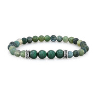 6mm Moss Agate And 8mm Malachite
