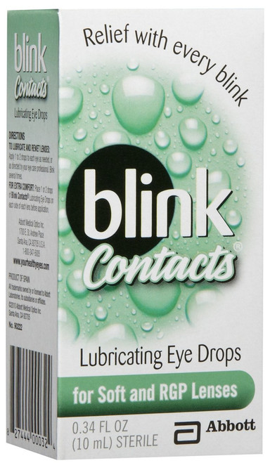Blink Contacts Eyedrops Front
