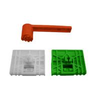 AUDI A4 (1994 - 2001) DOORGLASS REGULATOR REPAIR KIT FOR LEFT + RIGHT FRONT DOOR + Winder (3 pieces)