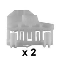 AUDI A4 (01-07) DOORGLASS REGULATOR REPAIR KIT FOR LEFT FRONT DOOR (2 pieces)