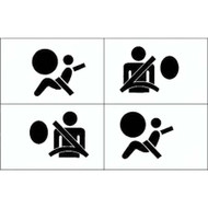 AIR BAG STICKERS SET OF 4 FRONT & SIDE size 40mm x 30mm each