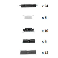 HONDA ACCORD 1984 - 1986 WINDSCREEN CLIP KIT PACK OF 58