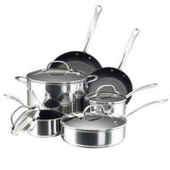 Farberware Millennium Stainless Steel Nonstick 10 Pc. Cookware Set
