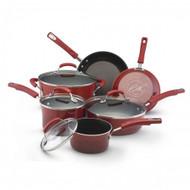 Rachael Ray Red Hard Enamel Nonstick 10 Pc. Cookware Set