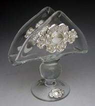 Crystal & Sterling Silver Napkin Holder 800112