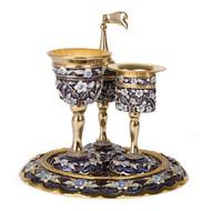 Jeweled Turquoise Havdalah Set