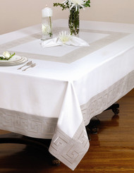 European Greek Key Tablecloth