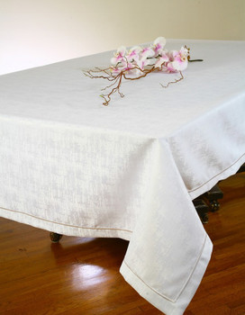 European Orion Embroiderd HemTablecloth