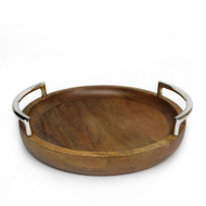 Quest Yacht Wooden Round Tray