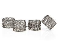 Godinger Round Mesh Napkin Ring Set