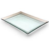 Annie Glass Tray- Platinum