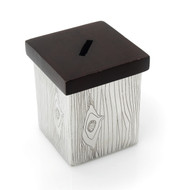 Classic Touch Wooden Edge Charity Box